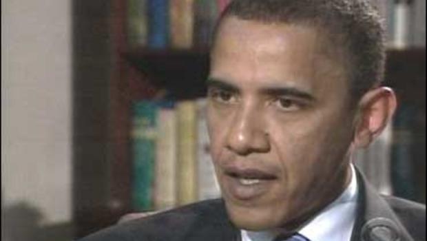 """Sen. Barack Obama in Afghanistan talks to Lara Logan on """"Face The Nation."""""""