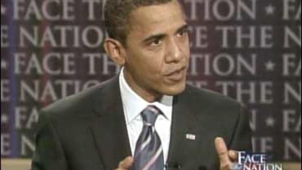"""Sen. Barack Obama on """"Face The Nation."""""""