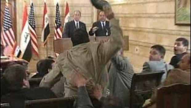 Bush Forced To Dodge Shoes On Iraq Visit - CBS News CBS News