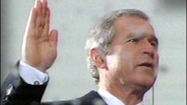 George W. Bush taking the oath of office, Jan. 20, 2001.