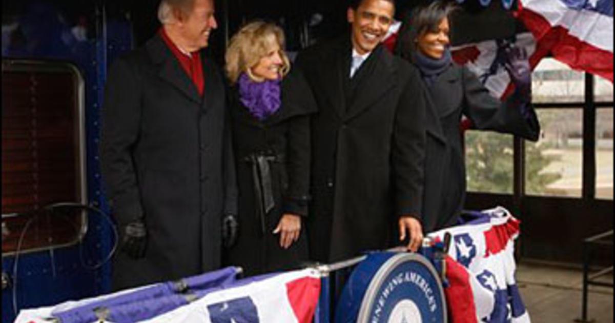 Obama Takes Train Ride To History CBS News