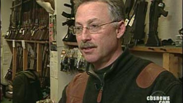 Gun shop owner Scott Moss