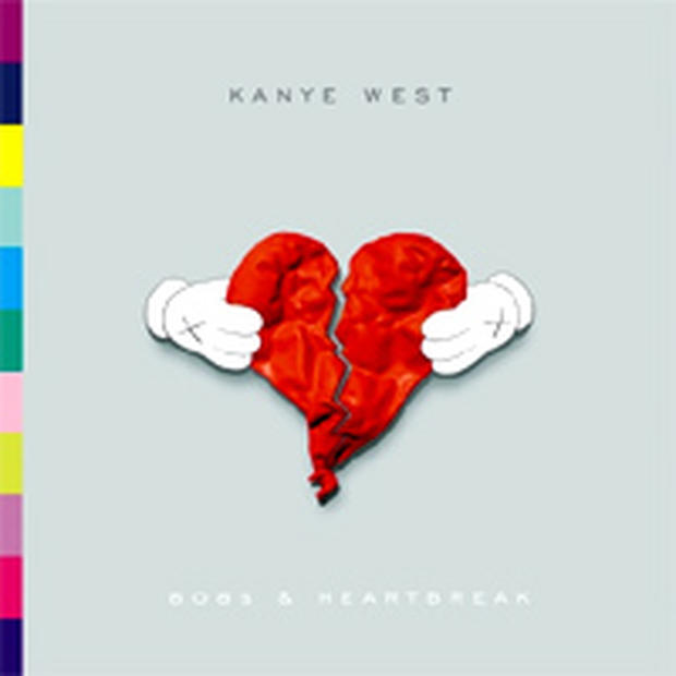 "The cover of Kanye West's album ""808's and Heartbreak"" designed by the artist KAWS"