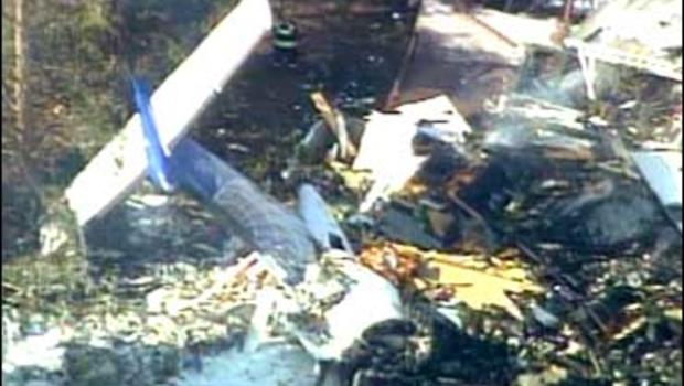 The crash site of Continental Connnection Flight 3407 in Clarence Center, N.Y.
