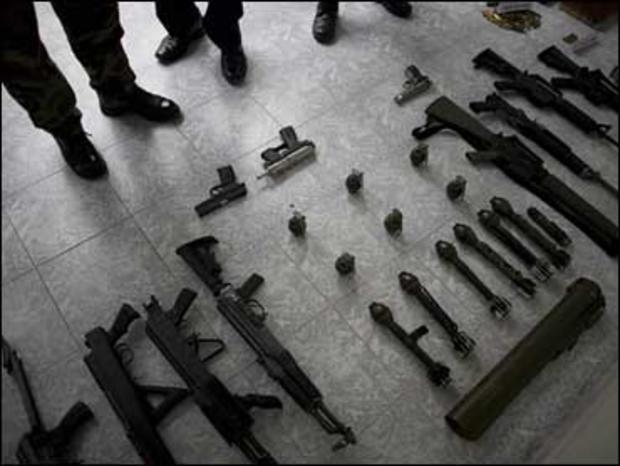 guns seized during drug trafficking
