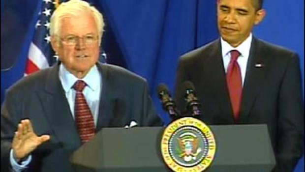 Barack Obama and Ted Kennedy