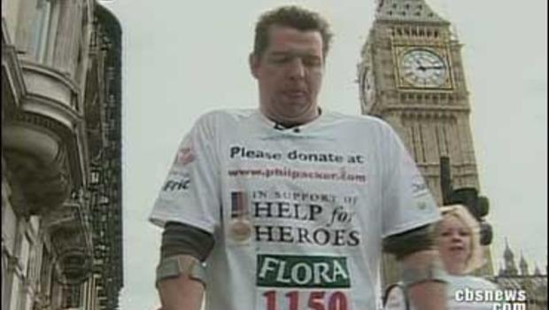 Veteran in London marathon