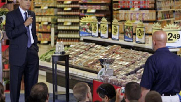 Obama at supermarket