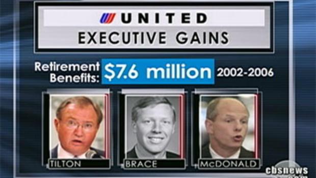 United executives retirement benefits