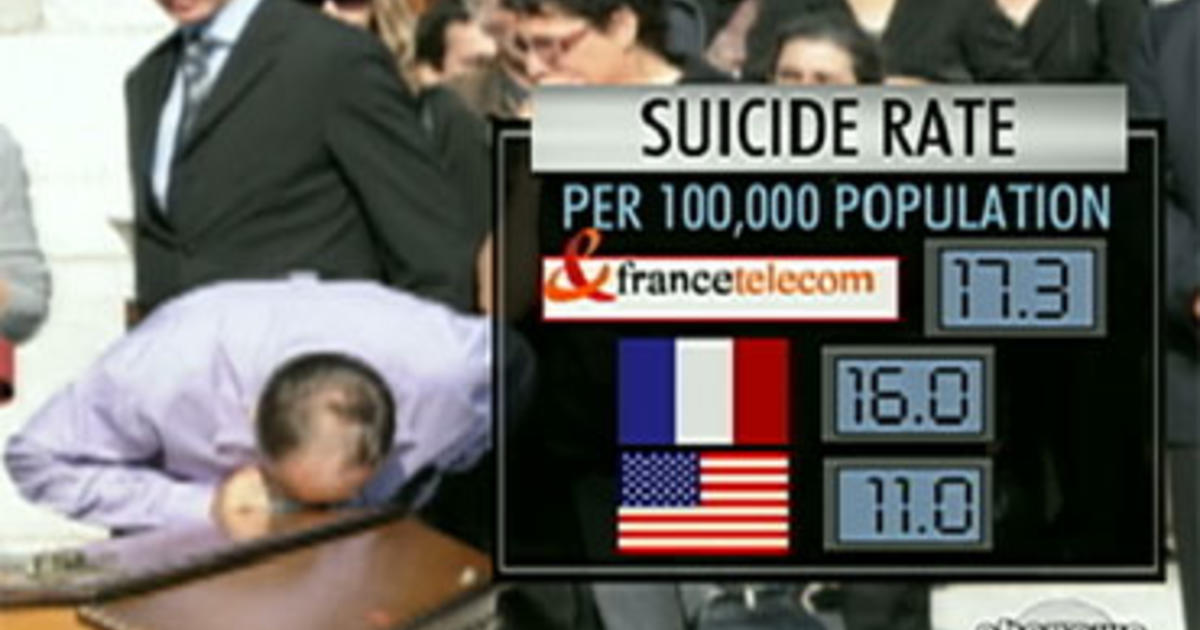 suicide epidemic sweeps france telecom cbs news. Black Bedroom Furniture Sets. Home Design Ideas
