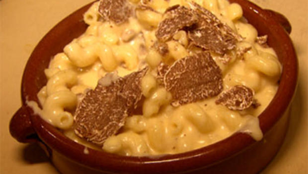 Truffled Macaroni and Cheese, prepared by chef John DeLucie of New York's Waverly Inn & Garden.