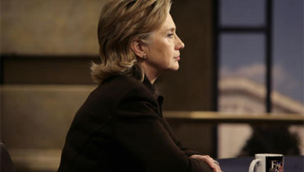 """Secretary of State Hillary Clinton talks about Afghanistan for the Sunday, Dec. 6, 2009, broadcast of """"Face the Nation."""""""