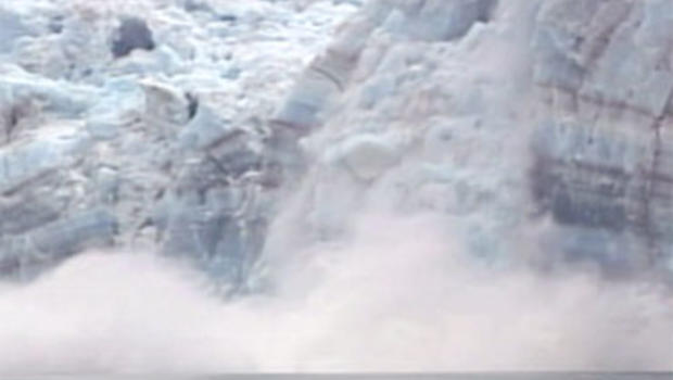 Melting glaciers in Greenland contribute to rising sea levels.