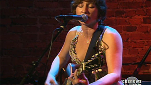 """Singer Amy Correia has made two critically acclaimed albums, but for her next record she's changing her tune and turning to her fans online for donations. Here she's seen in the Saturday, Dec. 19, 2009, broadcast of the """"CBS Evening News."""""""