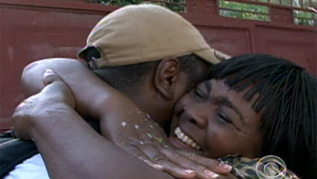 David Pierre-Louis travelled from Seattle to be reunited with his mother Augusta in Haiti.