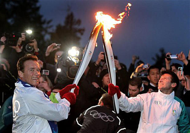 Olympic Torch Crosses Canada