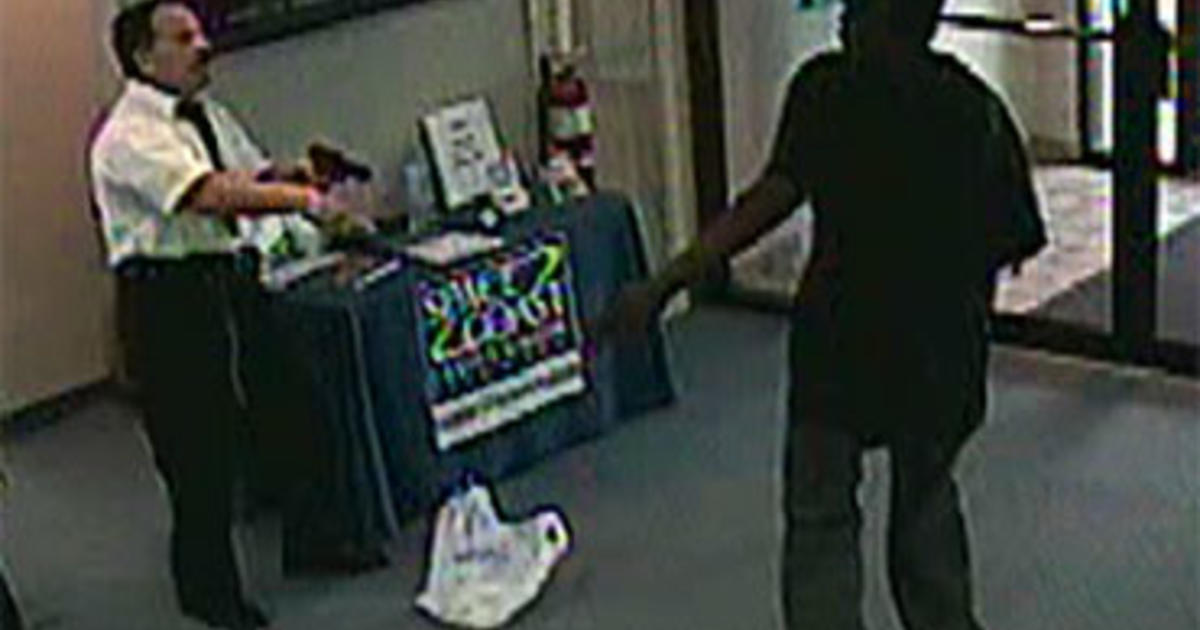 Off Duty Security Guard Thwarts Bank Robbery Cbs News