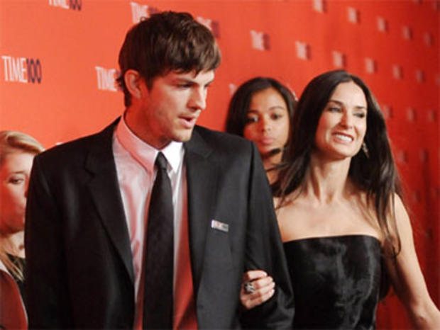 Actor Ashton Kutcher and wife Demi Moore attend the TIME 100 gala celebrating the 100 most influential people, at the Time Warner Center, Tuesday, May 4, 2010 in New York.