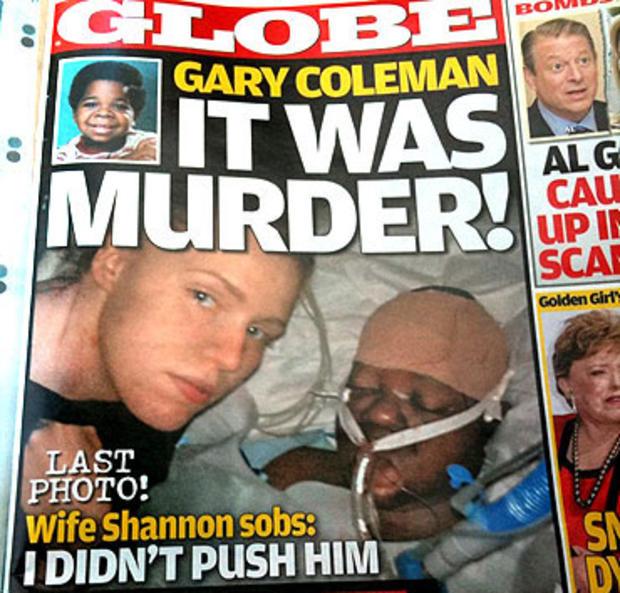 gary coleman, shannon price, globe magazine, cover, twitpic