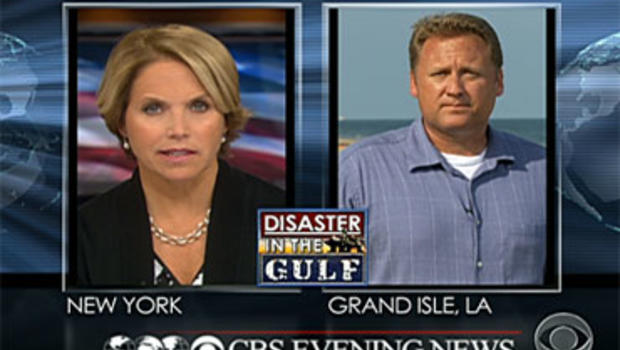 Katie Couric asks Don Teague a viewer question about the safety of oil relief wells in the Gulf of Mexico June 18, 2010.