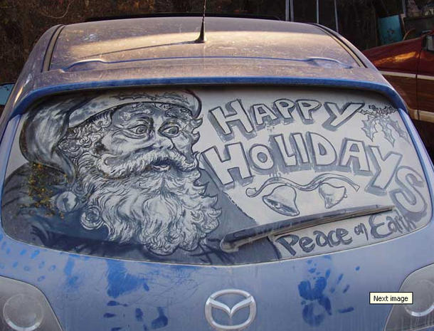 Amazing art from dirty car windows