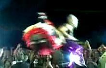 Pink Falls during Concert