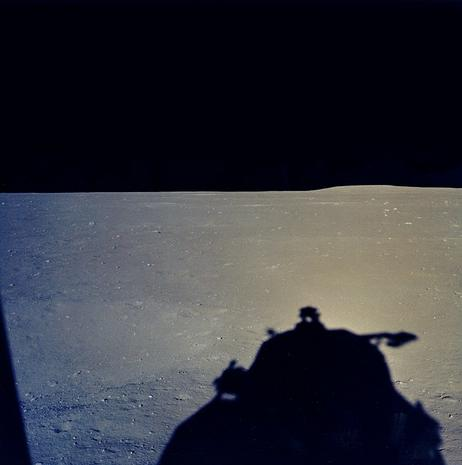 View of the Moon from the LM's Window - Apollo 11: The