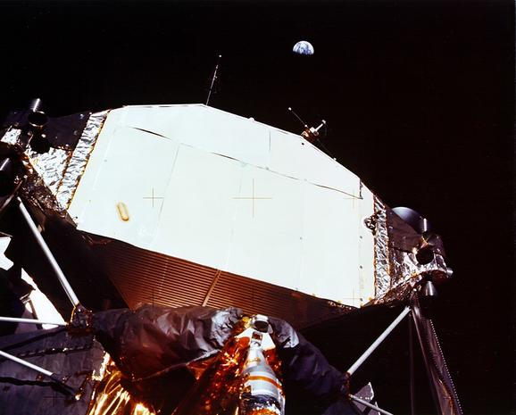 LM Ascent Stage and Earth Overhead - Apollo 11: The Original