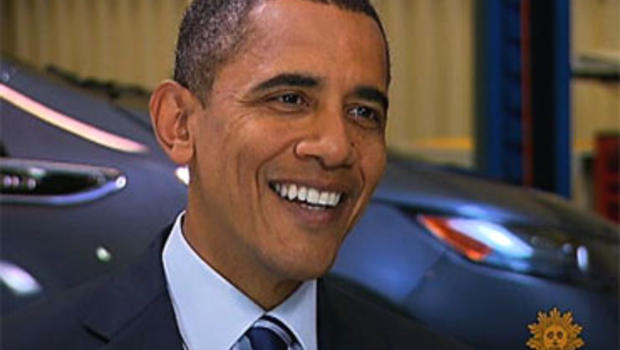 President Barack Obama interviewed by CBS News' Harry Smith on Friday, July 30, 2010 in Detroit.