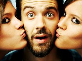kiss, kissing, threesome, sex, fun, love, generic, stock