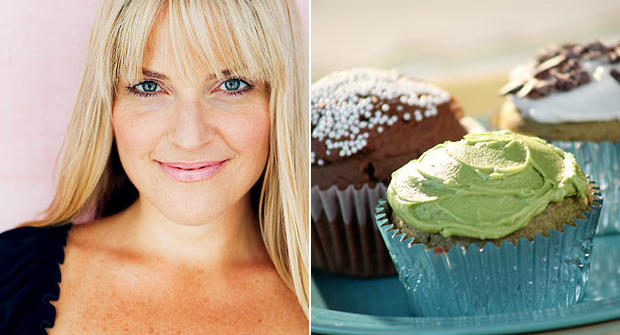 Kelly Keough and her sugar free/gluten free cupcakes.