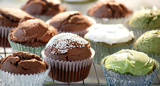 Kelly Keough's sugar-free, gluten-free cupcakes.
