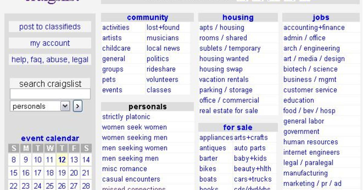 Craigslist closes personals section in U S  - CBS News