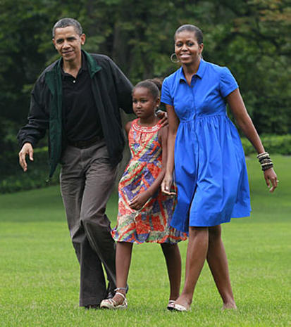 Sasha Obama's summer vacation