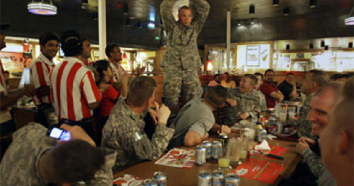 Soldiers Unwind On Kandahar Quot Boardwalk Quot Cbs News