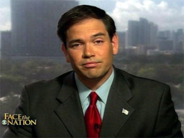 Marco Rubio, the Florida Republican Senate nominee aligned with the Tea Party movement, said both the Republican and the Democratic parties are to blame for the country's problems.