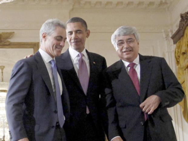 Barack Obama, Rahm Emanuel, Peter Rouse