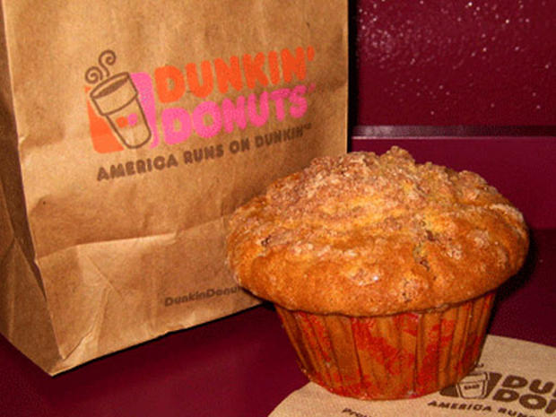 dunkinu0027 donutsu0027 coffee cake muffin 25 dietbusting foods you should never eat pictures cbs news