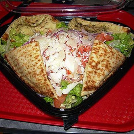 Quiznos Chicken With Honey Mustard Flatbread Salad 25