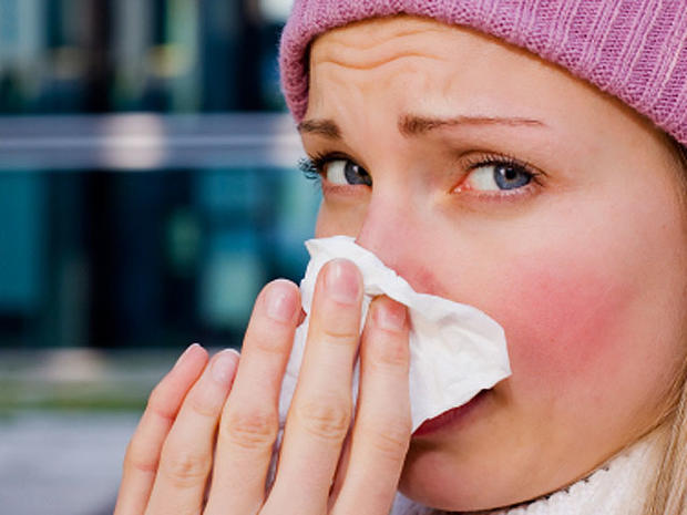 cold, sniffle, sneeze, woman, istockphoto, 4x3