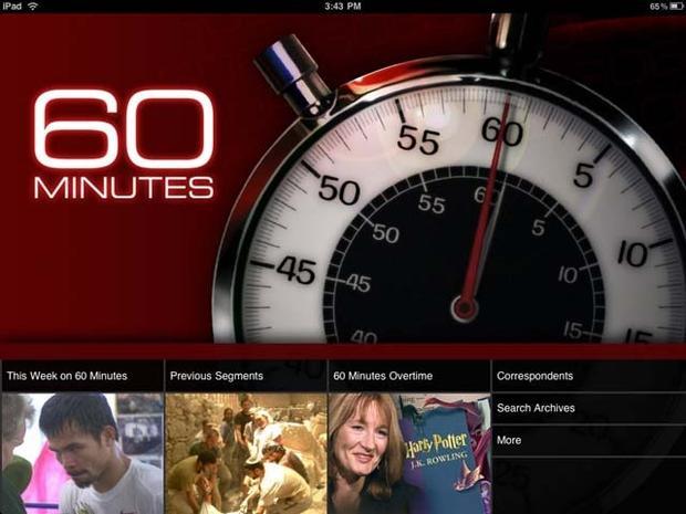 """""""60 Minutes"""" iPad App Debuts"""
