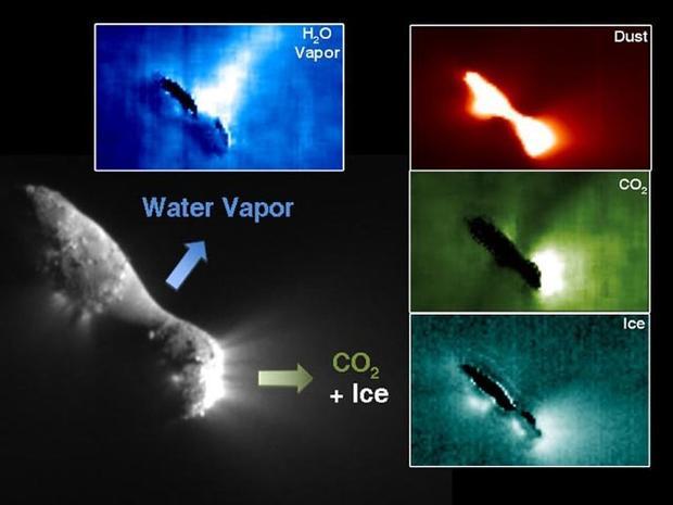 A Comet Runs into a Snowstorm - Really