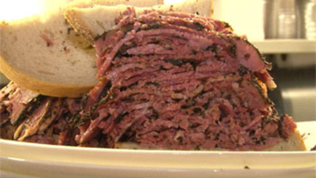 One of the legendary sandwiches of New York's Carnegie Deli.