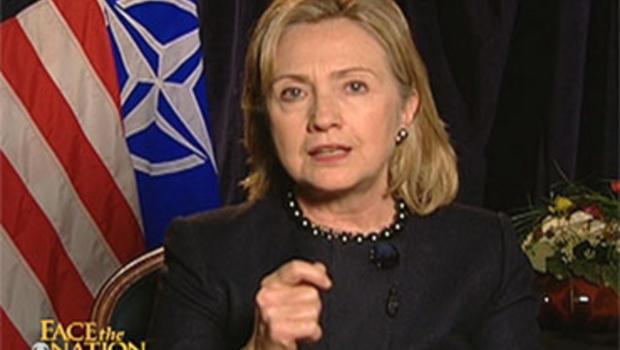 "Secretary of State Hillary Rodham Clinton on ""Face the Nation,"" Nov. 21, 2010."