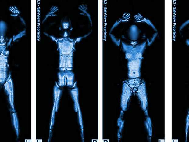 New TSA airport scanners: Millimeter wave technology produces whole body images.