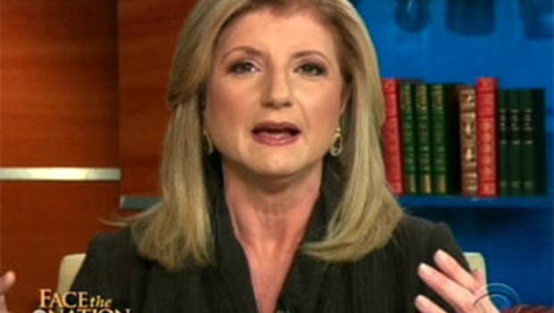 Author Arian Huffington on Face the Nation, Nov. 28, 2010.