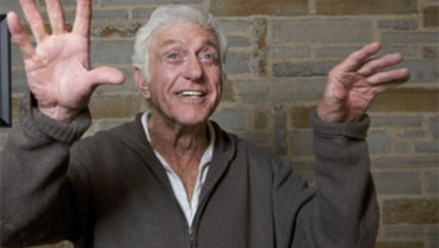Actor Dick Van Dyke is shown during a rehearsal for his one-man show at the Geffen Playhouse in Los Angeles, Nov. 30, 2010.