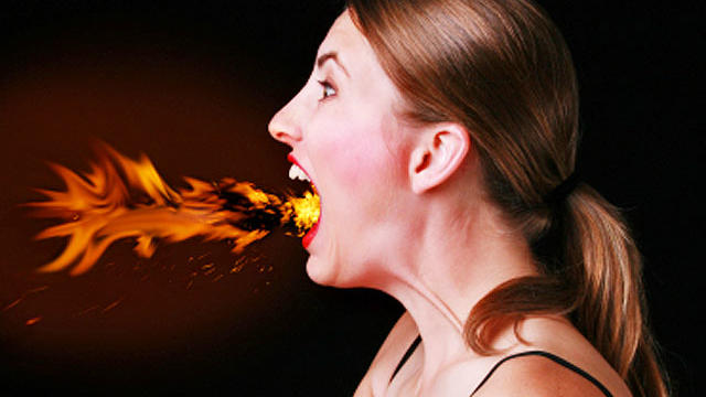 heartburn, heart burn, angry, woman, fire, fire breather, generic, 4x3
