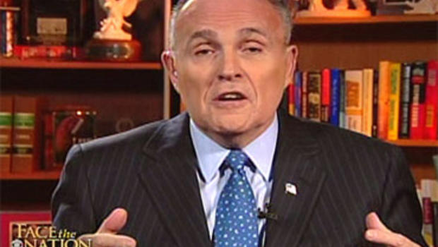 "Former New York City Mayor Rudy Giuliani on ""Face the Nation,"" Jan. 16, 2011."