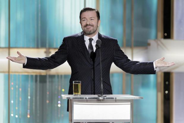 Ricky Gervais hosts the Golden Globe awards.